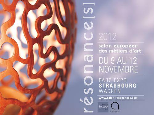 affiche du salon Résonance(s) de Strasbourg 2012